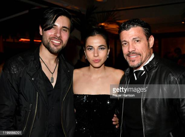 Artur Cristina Rodlo and Al Coronel attend Paramount Network's 68 Whiskey Premiere Party at Sunset Tower on January 14 2020 in Los Angeles California