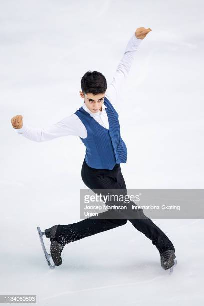 Artur Danielian of Russia competes in the Junior Men's Short Program during day 1 of the ISU World Junior Figure Skating Championships Zagreb at Dom...