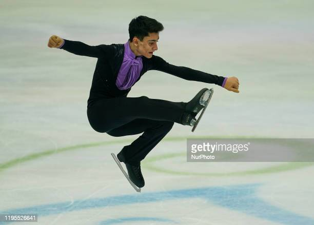 Artur Danielian of Russia during Men Free Skating at ISU European Figure Skating Championships in Steiermarkhalle Graz Austria on January 24 2020