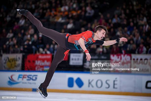 Artur Dmitriev of Russia competes during Men's Free Skating on day two of the Trophee de France ISU Grand Prix of Figure Skating at Accorhotels Arena...