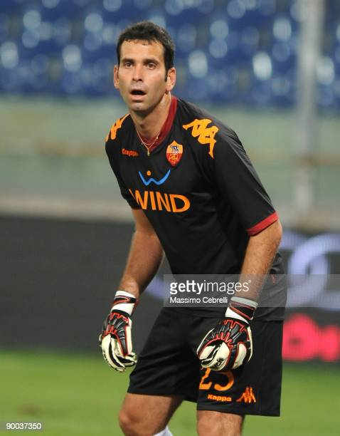 Artur Guhillerme G Morales of AS Roma in action during the Serie A match between Genoa CFC and AS Roma at the Luigi Ferraris Stadium on August 23...