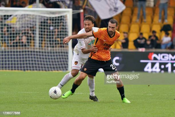 Artur Ionita and GERBO Alberto during the Italian Football Championship League BKT Benevento Calcio vs Cosenza Calcio on October 23, 2021 at the...