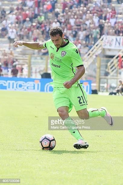 Artur Ionita of Cagliari Calcio in action during the Serie a match between Bologna FC and Cagliari Calcio at Stadio Renato Dall'Ara on September 11...