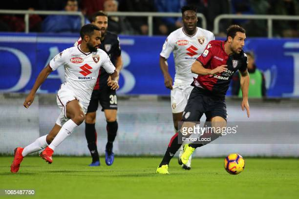 Artur Ionita of Cagliari in action during the Serie A match between Cagliari and Torino FC at Sardegna Arena on November 26 2018 in Cagliari Italy