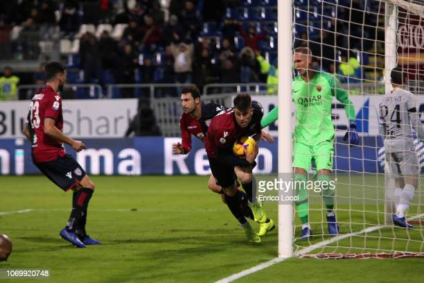 Artur Ionita of Cagliari scores his goal 12 during the Serie A match between Cagliari and AS Roma at Sardegna Arena on December 9 2018 in Cagliari...