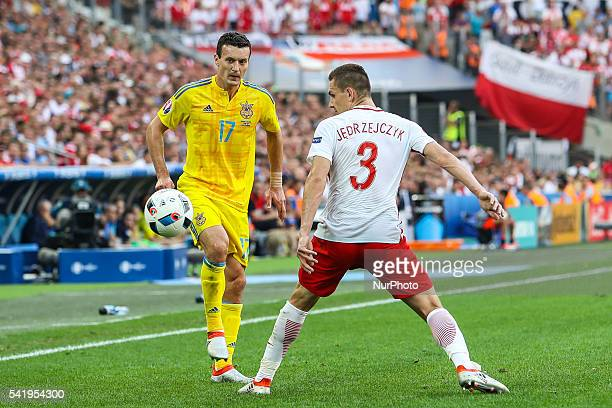 Artur Jedrzejczyk Artem Fedetskiy during the UEFA EURO 2016 Group C match between Ukraine and Poland at Stade Velodrome on June 21 2016 in Marseille...