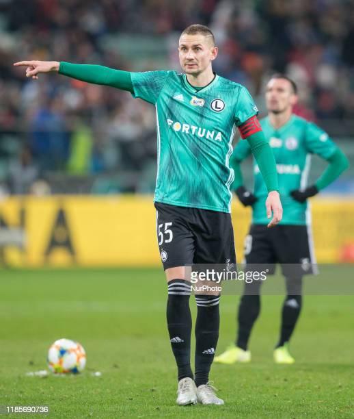 Artur Jedrzejczyk during PKO Ekstraklasa soccer match between Legia Warsaw and Korona Kielce at Polish Army Stadium in Warsaw Poland on 30 November...