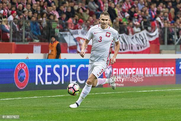 Artur Jedrzejczyk during the 2018 FIFA World Cup qualification match between Poland and Denmark national football teams at National Stadium in Warsaw...