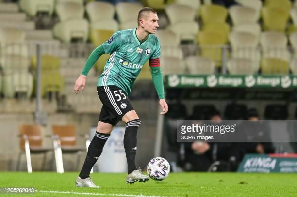 Artur Jedrzejczyk of Legia seen in action during the Polish Ekstraklasa match between Lechia Gdansk and Legia Warsaw