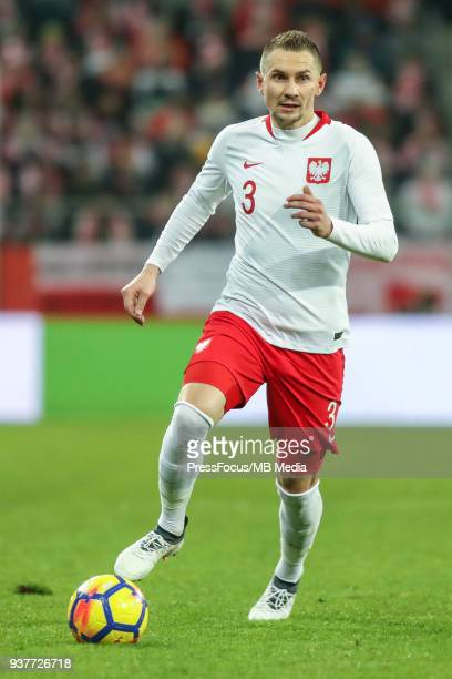 Artur Jedrzejczyk of Poland drives the ball during the international friendly match between Poland and Nigeria at the Municipal Stadium on March 23...