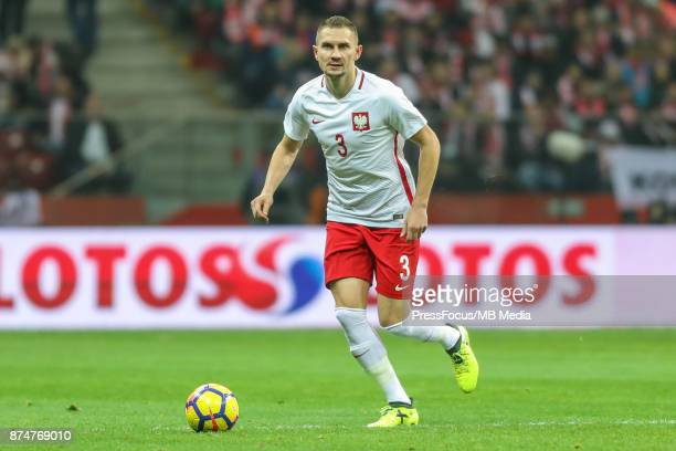 Artur Jedrzejczyk of Poland during international friendly match between Poland and Uruguay at National Stadium on November 10 2017 in Warsaw Poland