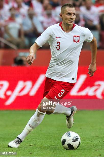 Artur Jedrzejczyk of Poland during International Friendly match between Poland and Lithuania on June 12 2018 in Warsaw Poland