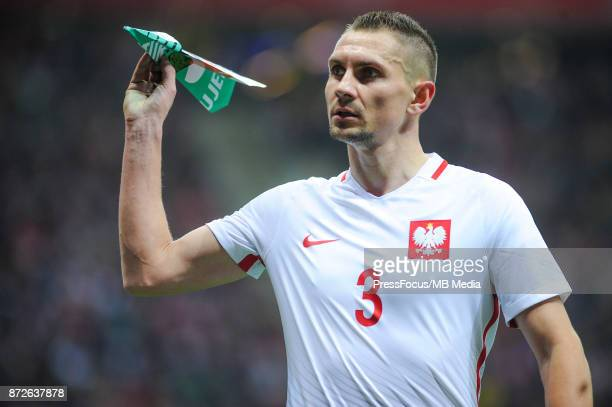 Artur Jedrzejczyk of Poland during the international friendly match between Poland and Uruguay at National Stadium on November 10 2017 in Warsaw...