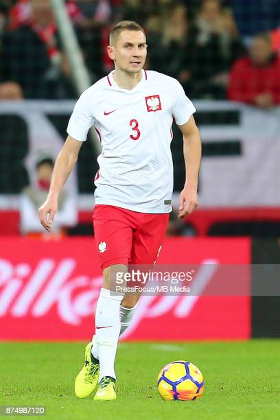 Artur Jedrzejczyk of Poland during the international friendly match between Poland and Mexico on November 13 2017 in Gdansk Poland