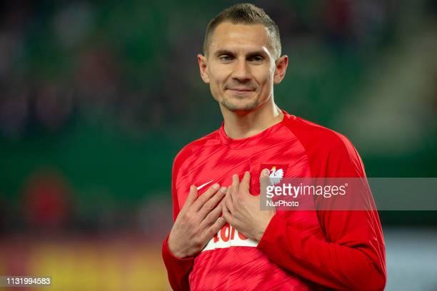 Artur Jedrzejczyk of Poland during the UEFA European Qualifiers 2020 match between Austria and Poland at Ernst Happel Stadium in Vienna Austria on...