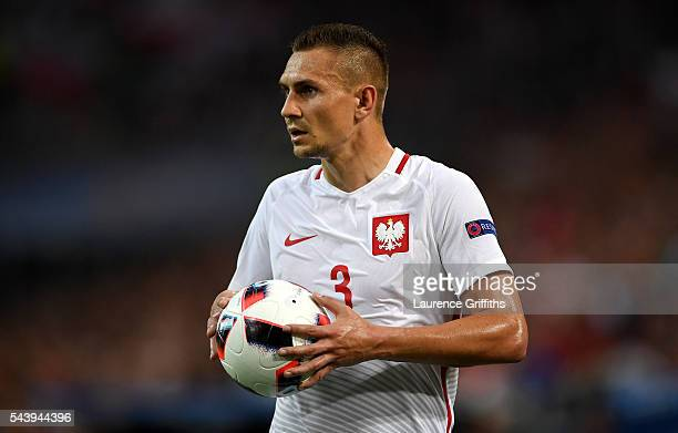 Artur Jedrzejczyk of Poland in action during the UEFA EURO 2016 quarter final match between Poland and Portugal at Stade Velodrome on June 30 2016 in...