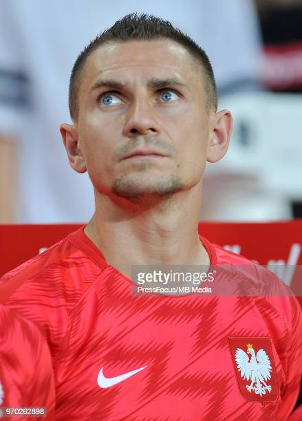 Artur Jedrzejczyk of Poland looks on before the International Friendly match between Poland and Chile on June 8 2018 in Poznan Poland