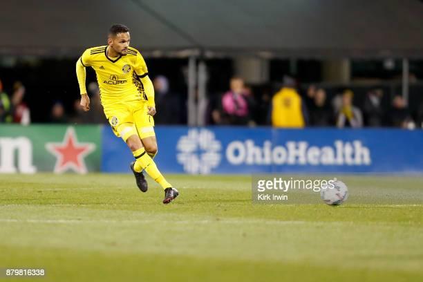 Artur of the Columbus Crew SC kicks the ball during the match against the Toronto FC at MAPFRE Stadium on November 21 2017 in Columbus Ohio Columbus...