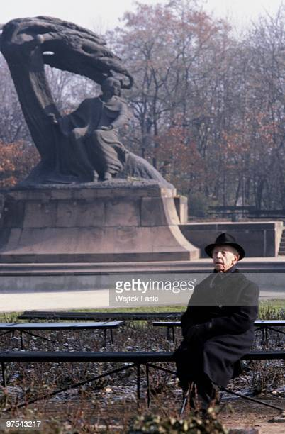 Artur Rubinstein the most acclaimed Polish pianist while walking in Lazienki Park in Warsaw on October 01 1979