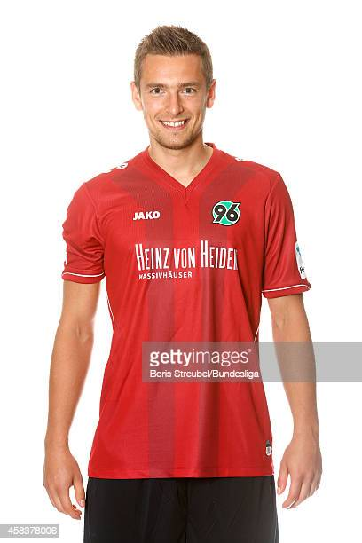 Artur Sobiech of Hannover 96 poses during the team presentation on July 8 2014 in Hanover Germany
