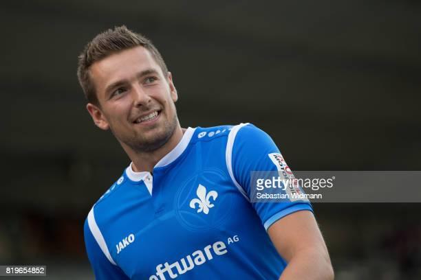 Artur Sobiech of SV Darmstadt 98 walks on the pitch during the team presentation at MerckStadion am Boellenfalltor on July 20 2017 in Darmstadt...