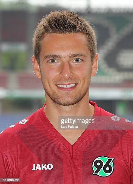 Artur Sobiech poses during the team presentation at HDIArena on July 8 2014 in Hanover Germany