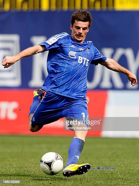 Artur Yusupov of FC Dynamo Moscow in action during the Russian Premier League match between FC Dynamo Moscow and FC Krasnodar at the Arena Khimki...