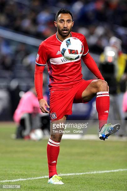 Arturo Alvarez Chicago Fire during the New York City FC Vs Chicago Fire MLS regular season match at Yankee Stadium on April 10 2016 in New York City
