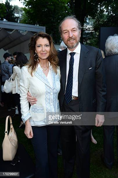 Arturo Artom and Alessandra Repini attend a cocktail party as Bulgari Hotel Milan Unveils 'Epicurea' at Bulgari Hotel on June 10 2013 in Milan Italy