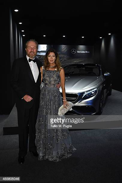 Arturo Artom and Alessandra Repini attend amfAR Milano 2014 as a part of Milan Fashion Week Womenswear Spring/Summer 2015 on September 20 2014 in...