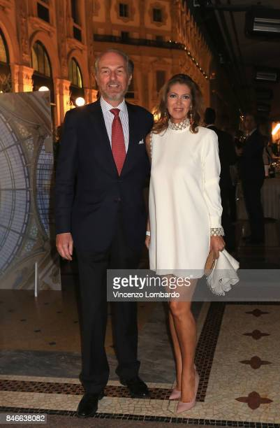 Arturo Artom and Alessandra Repini attend charity dinner for Galleria Vittorio Emanuele 150th Anniversary on September 13 2017 in Milan Italy