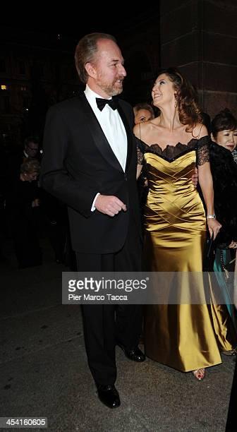 Arturo Artom and Alessandra Repini attend Teatro Alla Scala 2013/14 Opening on December 7 2013 in Milan Italy