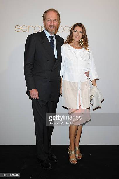 Arturo Artom and Alessandra Repini attend the Sergio Rossi Cocktail Party during the Milan Fashion Week Womenswear Spring/Summer 2014 on September 19...