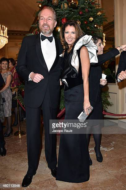 Arturo Artom and Alessandra Repini attend the Teatro Alla Scala 2014/15 season opening on December 7 2014 in Milan Italy