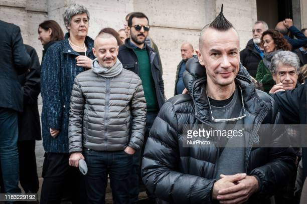Arturo Brachetti, the transformer and theatrical director during the Funeral of Antonello Falqui, director, author of television programs and...