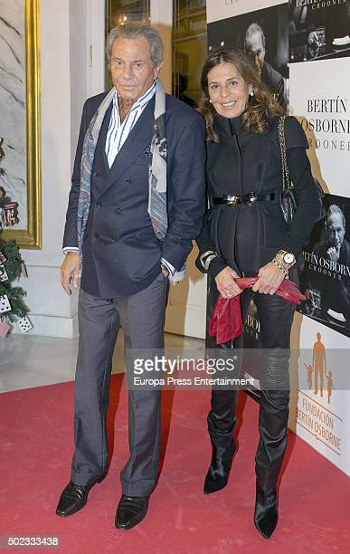 Arturo Fernandez and Carmen Quesada attend Bertin Osborne's concert on December 22 2015 in Madrid Spain