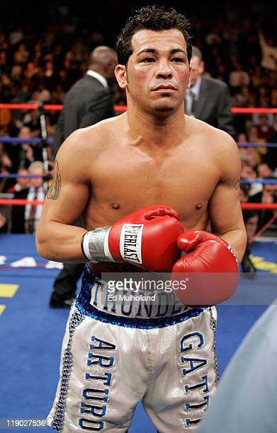 Arturo Gatti before his IBA Welterweight fight against Thomas Damgaard at Boardwalk Hall in Atlantic City NJ on January 28 2006 Gatti won the bout...