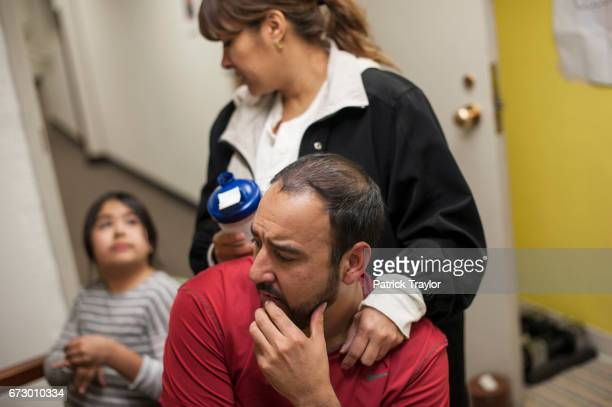 Arturo Hernandez Garcia gets a visit from his family on Feb 20 2015 At left is his daughter Andrea and behind his wife Ana Sauzameda Garcia has been...