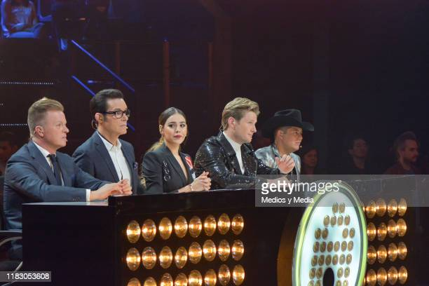 Arturo López Gavito Horacio Villalobos Danna Paola Alexander Acha and Remmy Valenzuela are the judges of 'La Academia 2019' Presentation at Azteca...