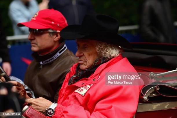 Arturo Merzario attends the 1000 Miglia start on May 15 2019 in Brescia Italy