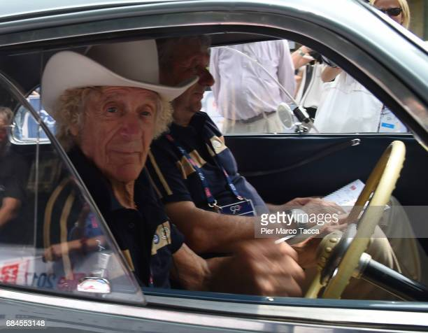 Arturo Merzario attends the 1000 Miles Historic Road Race start on May 18 2017 in Brescia Italy