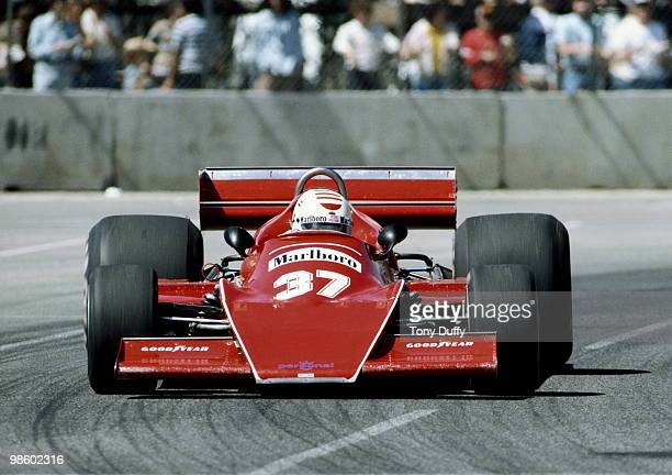 Arturo Merzario drives the Marlboro MerzarioFord A1 during the United States Grand Prix West on 3 April 1978 at Long Beach street circuit in Long...