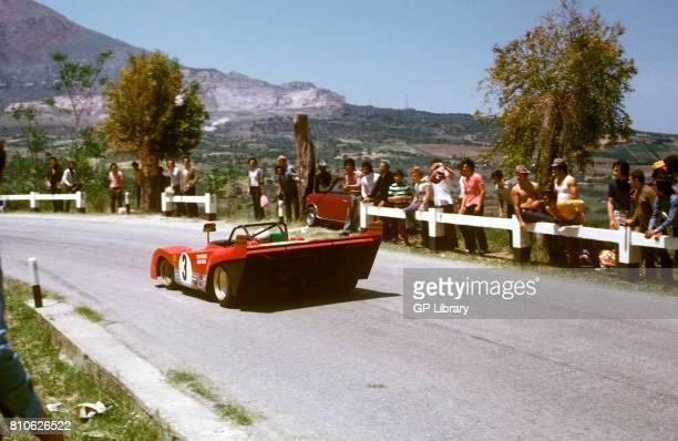 Arturo Merzario driving a Ferrari 312PB at Targa Florio 1st