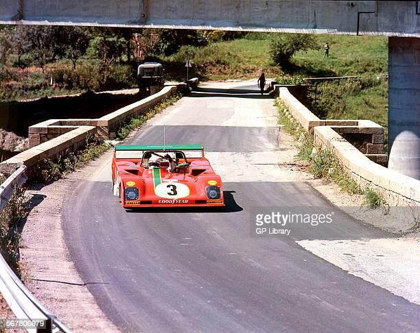 Arturo Merzario in a Ferrari 312PB in the Targa Florio Sicily 1973