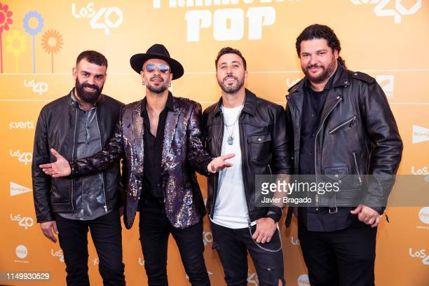 Arturo Sosa Ivan Torres Javier Moreno and Nau Barreto from the band Efecto Pasillo attend LOS40 Primavera Pop festival at Madrid WiZink Center on May...