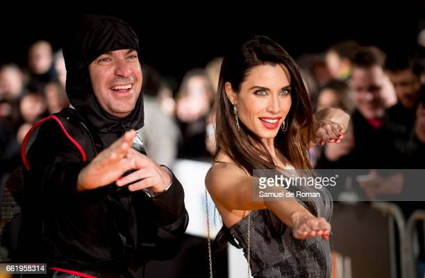 Arturo Valls and Pilar Rubio attends fesTVal Orange Carpet on March 31 on March 31 2017 in Burgos Spain