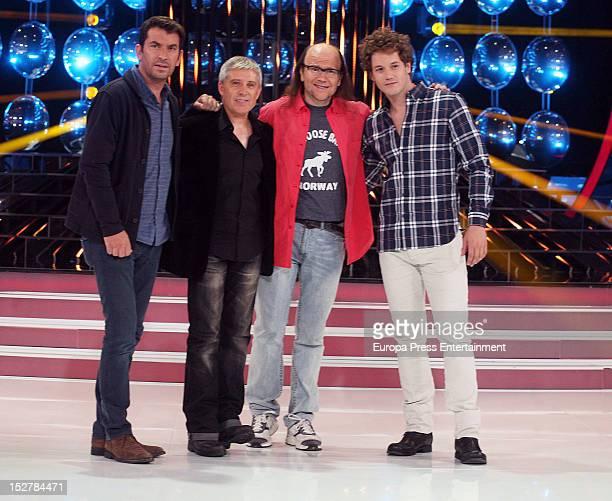Arturo Valls Francisco Javier Herrero Santiago Segura and Daniel Diges attend a presentation of the 2nd season of 'Tu Cara Me Suena' at the Antenna 3...