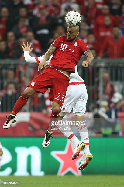 Arturo Vidal of Bayern Muenchen in action during the UEFA Champions League quarter final first leg match between FC Bayern Muenchen and SL Benfica...