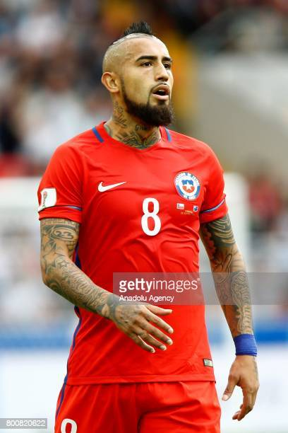 Arturo Vidal of Chile is seen during the Confederations Cup 2017 match between Chile and Australia at Spartak Stadium in Moscow Russia on June 25 2017