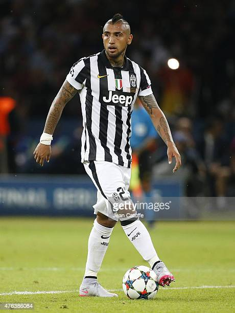 Arturo Vidal of Juventus Turin in action during the UEFA Champions League Final between Juventus Turin and FC Barcelona at Olympiastadion on June 6...